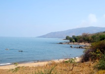 View from the highway - Lake Malawi