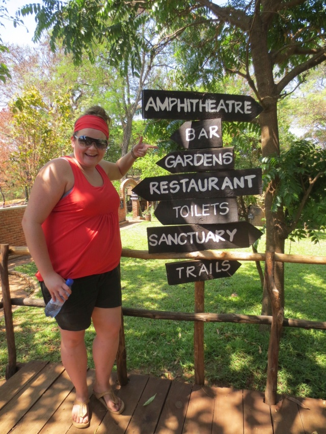 Visiting the Wildlife Sanctuary (and bar) on October 26