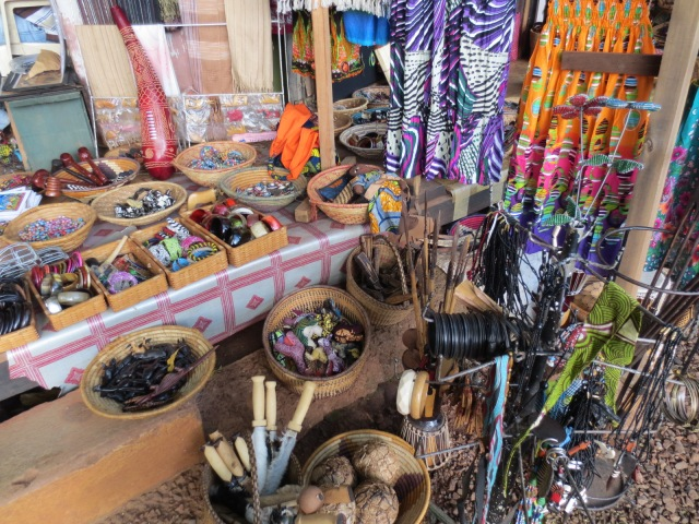 Craft market in Kampala Uganda where crafters have shanty-shacks