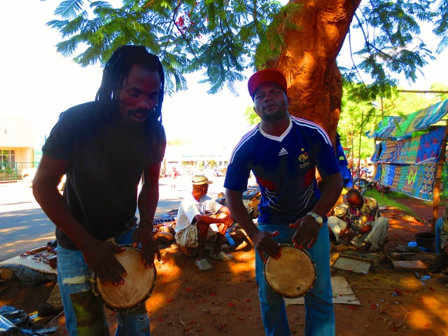 John (left) and Gift (right) making sweet beautiful music Saturday afternoon