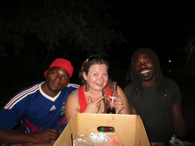 Gift, me and John at Mabuya Camp