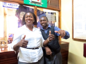 Elizabeth and her loans officer Chawanangwa